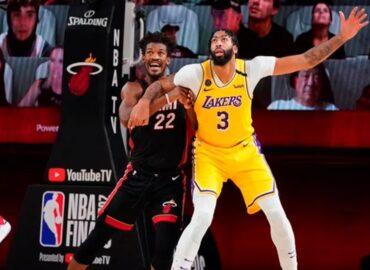 Lakers de Los Ángeles derrotan a Heat de Miami; están a un triunfo de levantar el trofeo Larry O'Brien