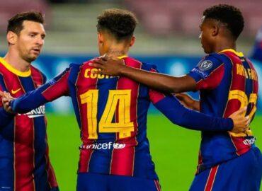 Barcelona golea 5-1 al Ferencvaros en fase de grupos de la Champions