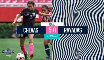 Caen las Rayadas 5-0 ante Chivas