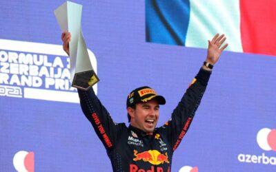 Reflejos del Gran Premio de Azerbaiyán 2021, 'Checo' Pérez, el ganador