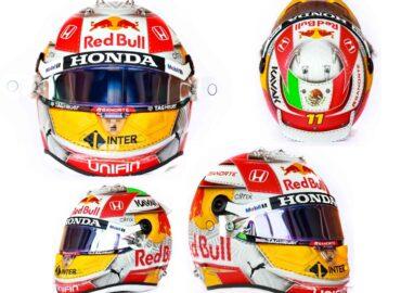 Este será el casco que usará Checo Pérez en carrera de Austria