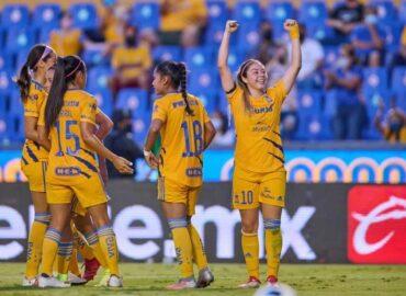 Golea Tigres Femenil 5-1 a San Luis; mantiene su invicto